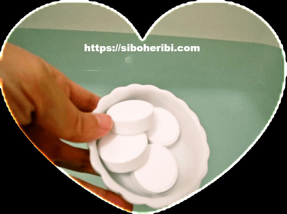 薬用ホットタブ重炭酸湯をお風呂に入れる