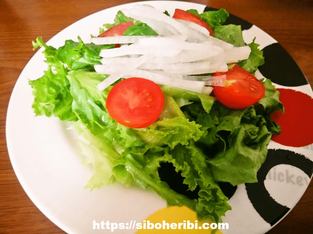 ビオマルシェのトマトでサラダ