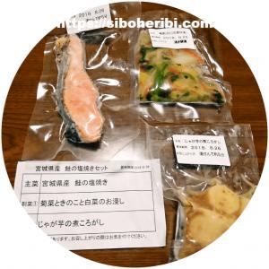 わんまいる手作りおかずセット(健幸ディナー)鮭の塩焼きセット